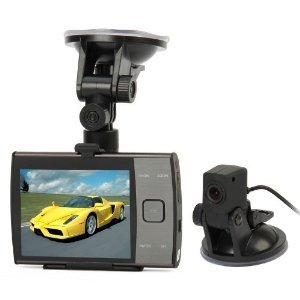 3.5 Inch Display HD 720p Dual Camera (forward and rear view) Car DVR video recorder S3000