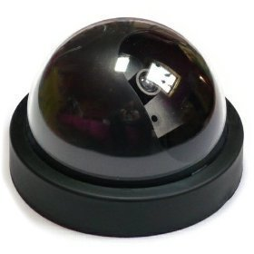 Imitation Dummy Security Camera Dome With Flashing LED Light