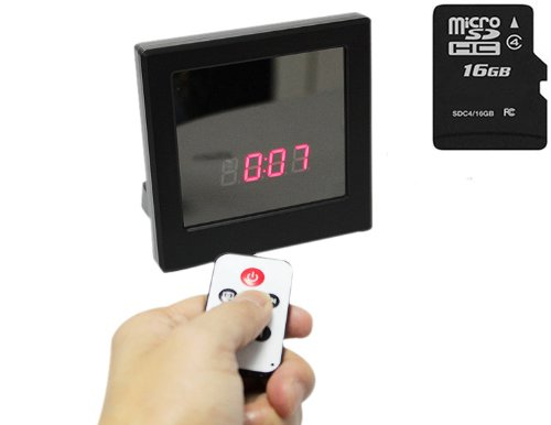 Alarm clock Hidden Spy Camera Car DVR Video Recorder + PC Digital Surveillance Recorder