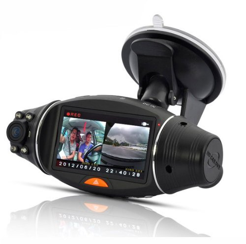 2.7 Inch rotatable Screen Dual Camera Car DVR with GPS Logger and GPS Sensor night vision SC310