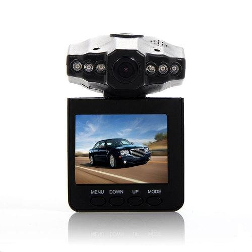 2.5″ TFT LCD Screen HD 720P High Solution Colorful Video & audio Camera CCTV Nightvision Vehicle Car DVR Road Eye Dash Cam Recorder Traffic Dashboard Camcorder – 270 degrees Rotatable whirl 6 LED Mini Portable Recorder Camera, Microphone Built In
