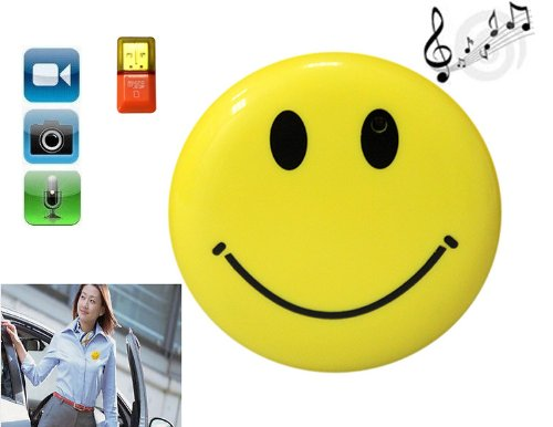 Smile Face MP3 clip Spy Camera DV Car DVR Video Recorder PC Digital Surveillance 1280 X 1024