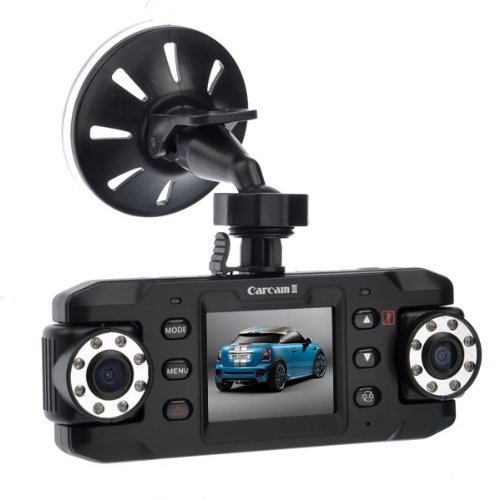 BW® X8000C 2.0-inch LCD 140° Wide Angle Dual Lens HD Car DVR Camcorder with G-sensor/GPS Module/Night Vision