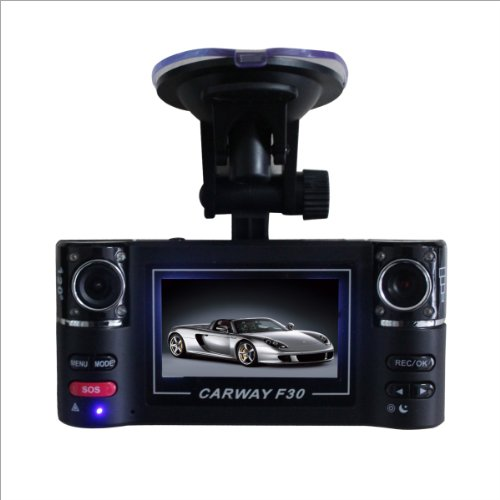 Camera Lens F30 HD Dual Car Vehicle DVR Cam Dash Video Recorder Lights (DVR F30, Black)