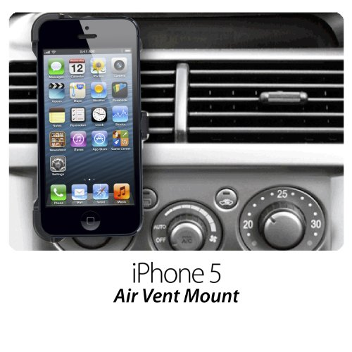 Dedicated Air Vent Car Holder Mount Black Vehicle Louvers Phone Cradle Mount For Apple Iphone5S Iphone5 (Iphone5S/5-Air Vent Holder)