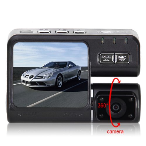 HD 720P Dual Lens Dashboard Car vehicle Travelling/Driving Data Recorder Camera DVR security dash recorder CAM G-sensor
