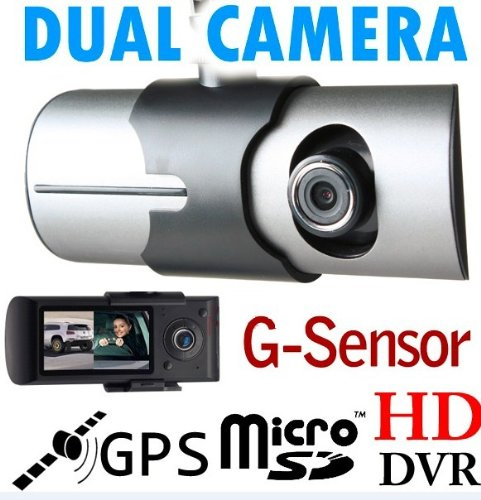 2.7″140° Dual Lens Dash Board Camera Car DVR Black Box Video Recorder+GPS Logger