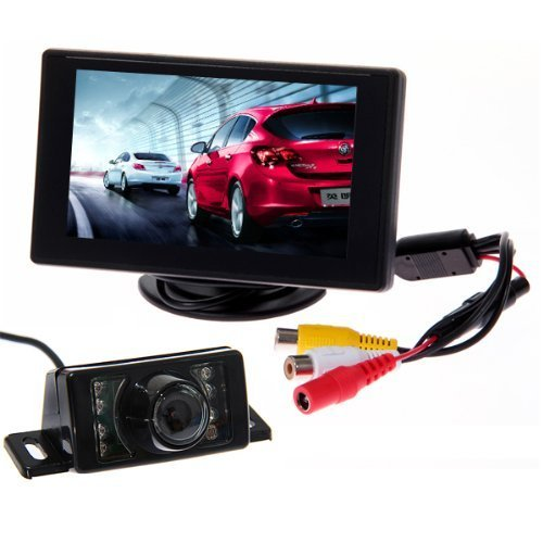 BW® 4.3″ TFT LCD Rear view Monitor and Night Vision Car Reverse Backup Camera+LED Car Rear View Reverse Reversing Waterproof Colour Video Camera Kits