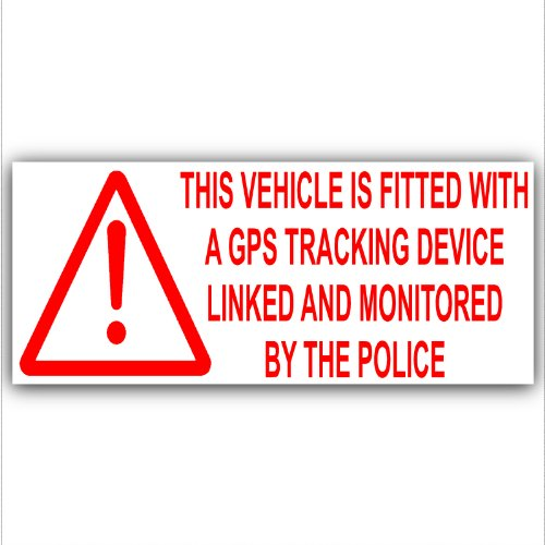 GPS Vehicle Alarm Tracker Security Alarm Stickers Signs 200mm For Car, Van, Truck, Taxi, Mini Cab, Bus, Coach
