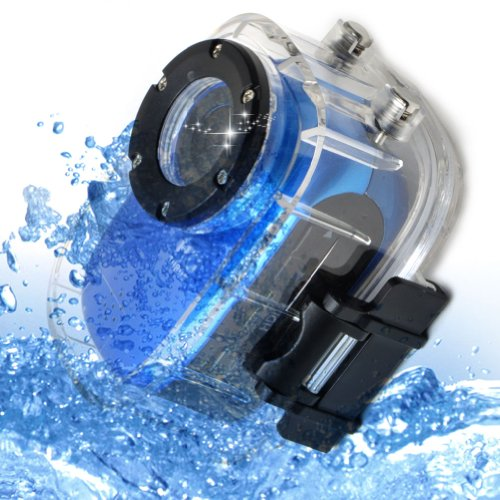Novatek 96650 Mini Waterproof Sports Video Recorder Camera + Full HD 1920*1080P 30FPS + 140 Degree Wide Angle Lens + G-sensor + MOV