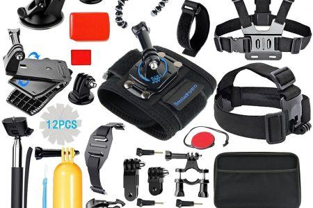 SmilePowo Sports Action Camera Accessory Kit