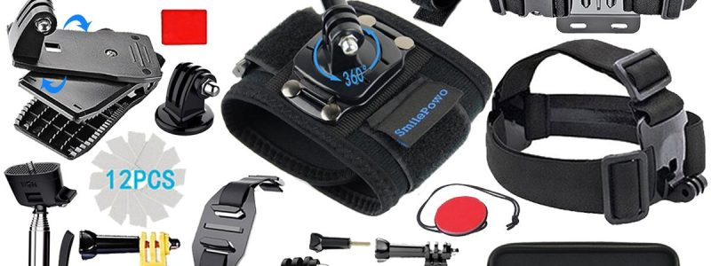 SmilePowo Sports Action Camera Accessory Kit
