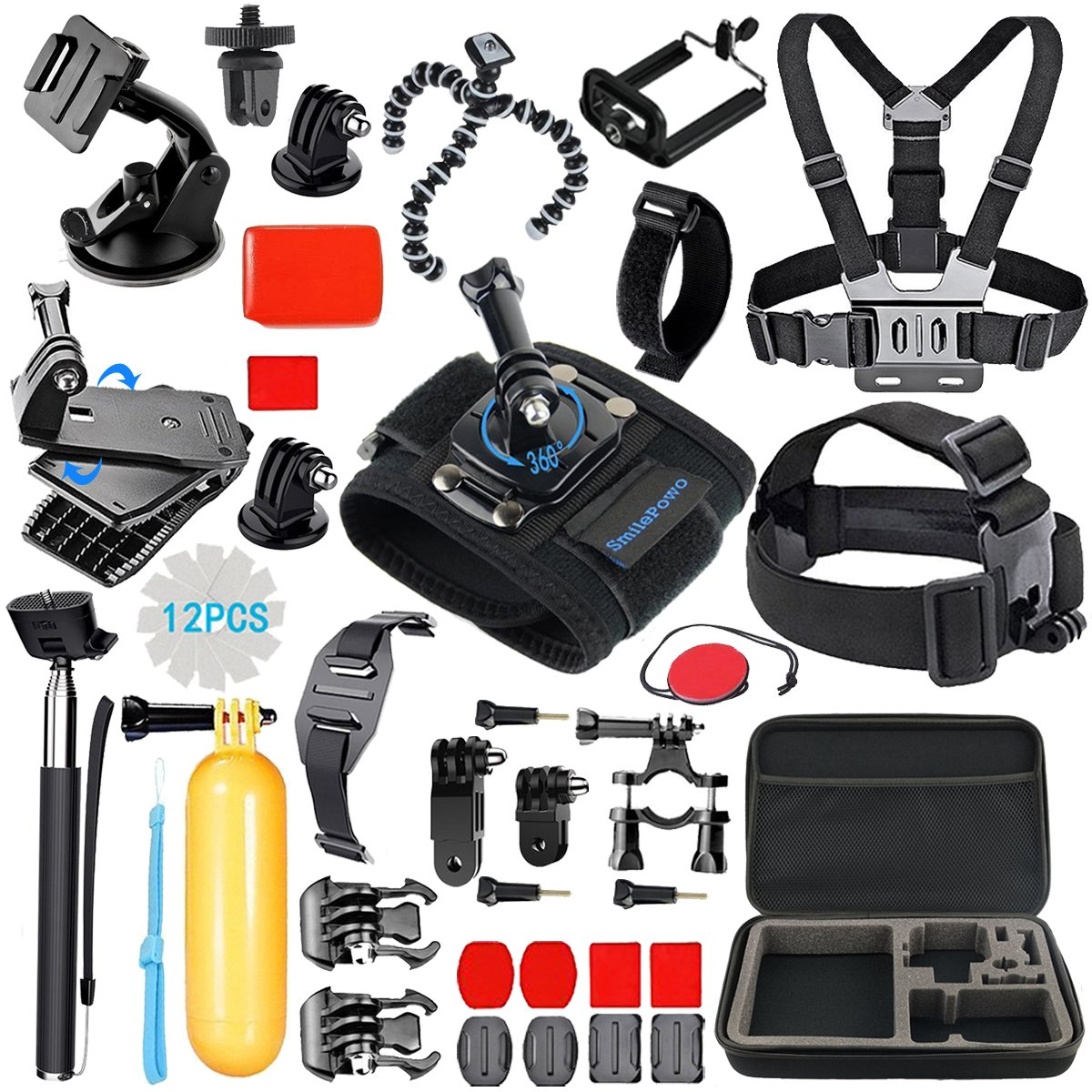 SmilePowo Sports Action Camera Accessory Kit for GoPro Hero 6