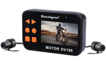 Blueskysea DV188 Motorcycle Recording Camera 1080p With130 Degree Angle Night Vision