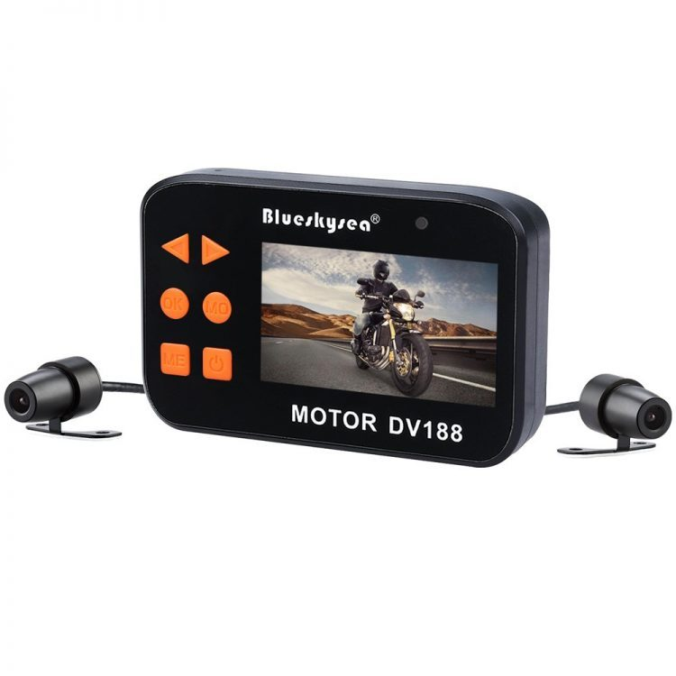 Blueskysea DV188 Motorcycle Recording Camera 1080p With 130 Degree Angle Night Vision