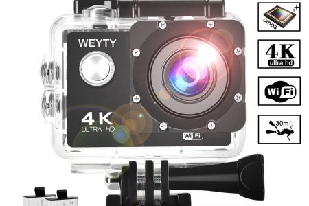 Action Camera WeyTy X6S 4K 30m Underwater Camera 16MP Wifi Sport Camera