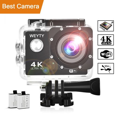 Action Camera WeyTy X6S 4K 30m Underwater Camera 16MP Wifi Sport Camera 170°Wide Angle – Waterproof