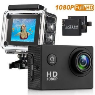 Sport Camera, 96FT Waterproof Sport Camera Full HD 1080P 2.0 Inch LCD Display with Outdoor Accessories