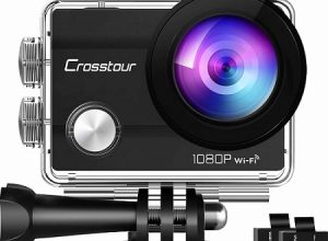 Crosstour CT7000 Underwater Sports Cam 170 Degree Ultra Wide-Angle with Rechargeable Batteries and Mounting Accessories Kit